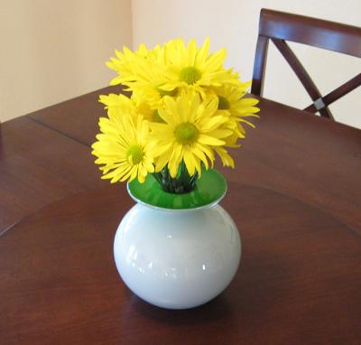 Green & White Vase for 5 bucks!