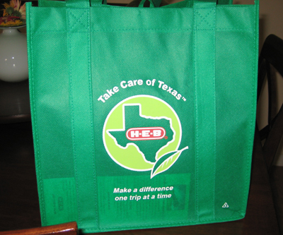 Heb Bag to help the environment.