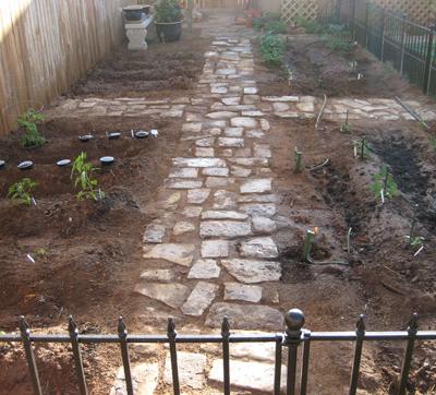 Finished Backyard Garden Design