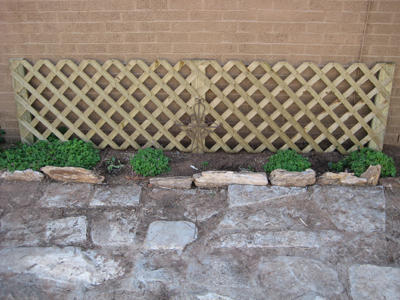 Using Lattice In The Flowerbed
