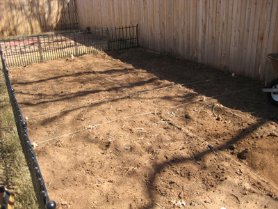 Garden before the stone was laid.