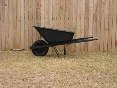 Wheel barrel after being murdered out.