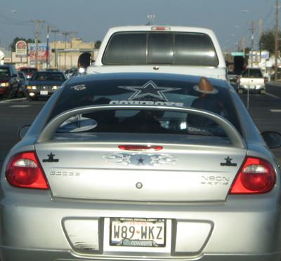 Insane Dallas Cowboy Fan Car
