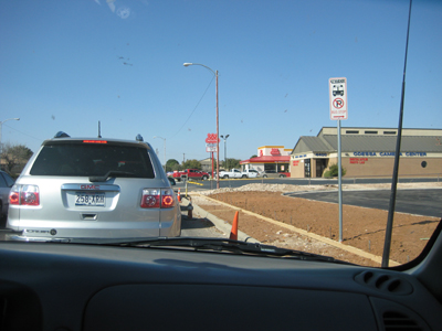 Forty minutes into our Odessa Wienerschnitzel Adventure!